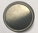Pewter	Dome w/Rim	Large - 25mm