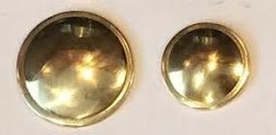 Brass 	Dome w/Rim	Small - 19mm